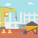 Background of construction site. Royalty Free Stock Photography