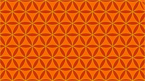 Background contains interlocking circles and their shape resembles roses,orange colors. The colors of circles yellow and orange,and an abstract geometric Royalty Free Stock Photography