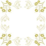 Background with contours of flowers. Abstract floral background with contour flowers on white Royalty Free Stock Photos