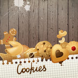 Background with cookies Royalty Free Stock Photography