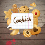 Background with cookies Royalty Free Stock Photos