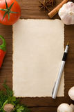 Background for cooking recipes Stock Photo