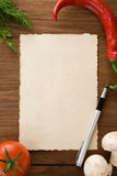 Background for cooking recipes Royalty Free Stock Images