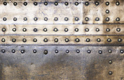Background copper rivets Royalty Free Stock Photography