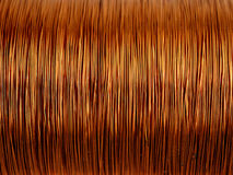 Background of copper wire Royalty Free Stock Photography