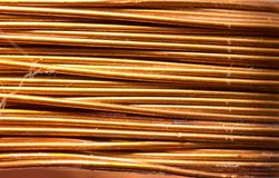 Background of copper wire Stock Photos