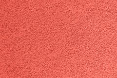 Background of coral plastering applied on the wall royalty free stock photography