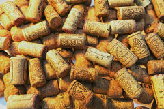 Background of corks of wine bottles Stock Image