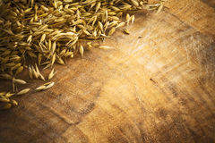 Background corn wooden oats Stock Photo