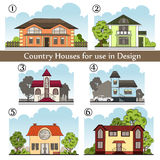 Background with country houses for use in design Royalty Free Stock Image
