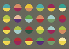 Background and cover design. Cover or background design.Colorful spheres on the grey background Royalty Free Stock Photo
