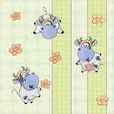 A background with cows Stock Image