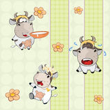 A background with cows seamless pattern Royalty Free Stock Image