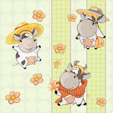 A background with cows seamless pattern Stock Image