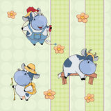 A background with cows.  seamless pattern Stock Images