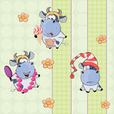 A background with cows. seamless pattern Royalty Free Stock Photo