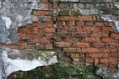 Background of crack brick wall texture . Background of crack brick wall texture Stock Image