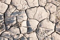 Background of cracked land surface Stock Photos