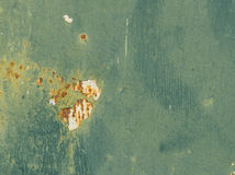 Background Cracked Paint on Rusty Metal Stock Photography