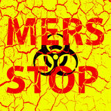 Background cracks Stop Mers Corona Virus sign.  Vector Illustrat. Ion Royalty Free Stock Photography