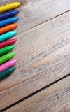 Background with crayons Royalty Free Stock Images