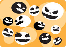 Background with crazy face Halloween ball Stock Photography