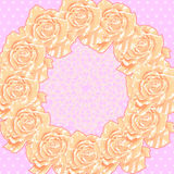 Background with Cream Roses Royalty Free Stock Photography