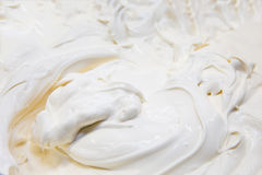 Background cream. Background from rural of thick of sour cream Royalty Free Stock Image