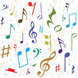 Background created from music notes. Illustration Royalty Free Stock Images