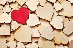 Background created from red and brown hearts Royalty Free Stock Photos