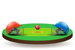 Background of Cricket competition Royalty Free Stock Images
