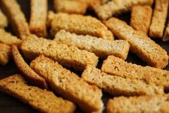 Background crispy slices of bread for eating royalty free stock image