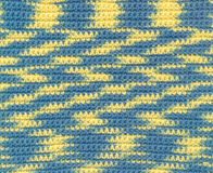 Background - crochet - variegated yarn Stock Images