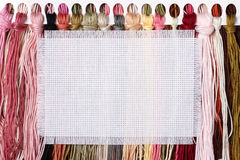 Background, cross-stitch Royalty Free Stock Photo
