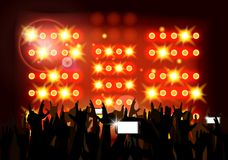 Background crowd of party people Stock Photo