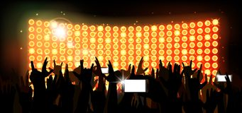 Background crowd of party people Royalty Free Stock Photography