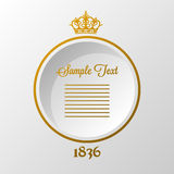 Background with crown. Vintage retro background with gold crown Stock Photography