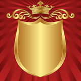 Background crown. Red and gold background crown Stock Illustration
