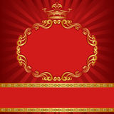 Background with crown Stock Photos