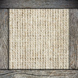 Background of crumpled burlap Royalty Free Stock Photo