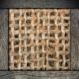 Background of crumpled burlap Royalty Free Stock Photos
