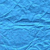 Background of crumpled paper in blue color Royalty Free Stock Images