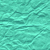 Background of crumpled paper in turquoise color Stock Photography