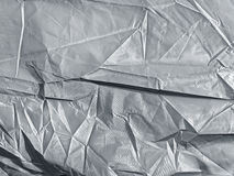 Background of crumpled synthetic fabric Royalty Free Stock Photography