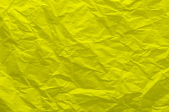Background of crumpled yellow paper Royalty Free Stock Images