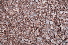 Background of Crushed Bark. Background of brown crushed bark Stock Photos