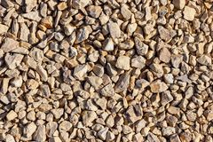 Crushed limestone, in the sunlight royalty free stock photos
