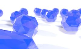 Background of Crystal balls, 3d Royalty Free Stock Photos