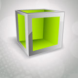 Background with cube Stock Photo
