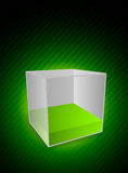 Background with cube Royalty Free Stock Images